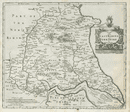 EAST RIDING OF YORKSHIRE by ROBERT MORDEN from Camden's Britannia 1722 old map